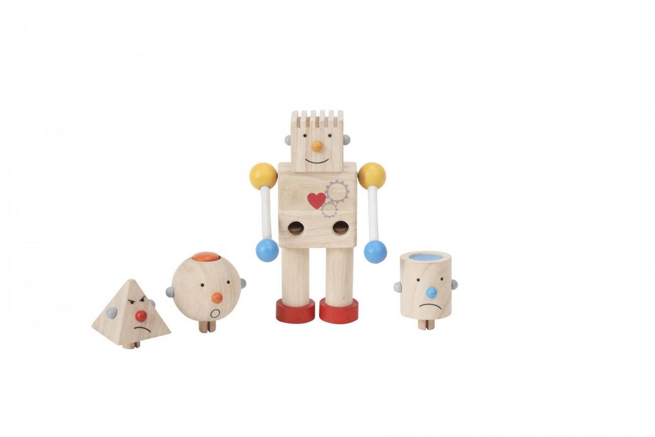 Robot Transformeur en Bois