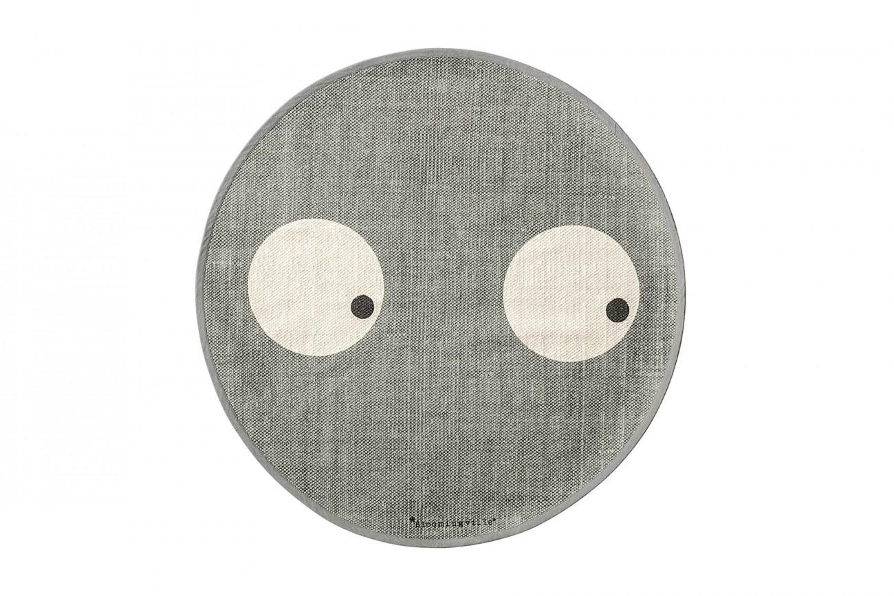 tapis enfant yeux gris. Black Bedroom Furniture Sets. Home Design Ideas