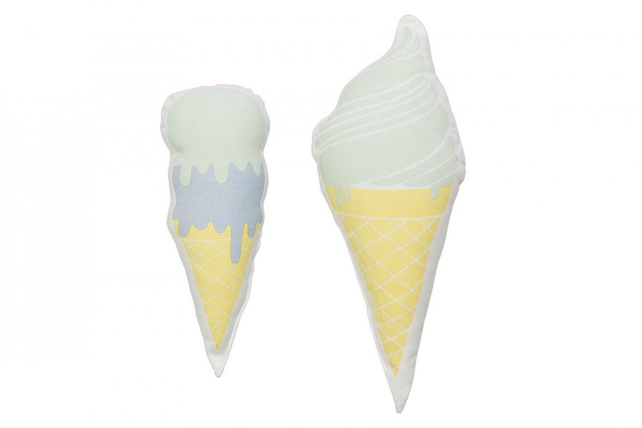 Set de 2 Coussin Ice Cream Bleu