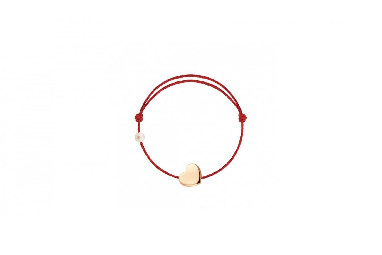 Bracelet Bébé Coeur Or Rose 18 carats