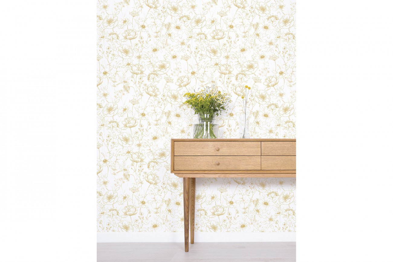 Papier Peint Botany Gold