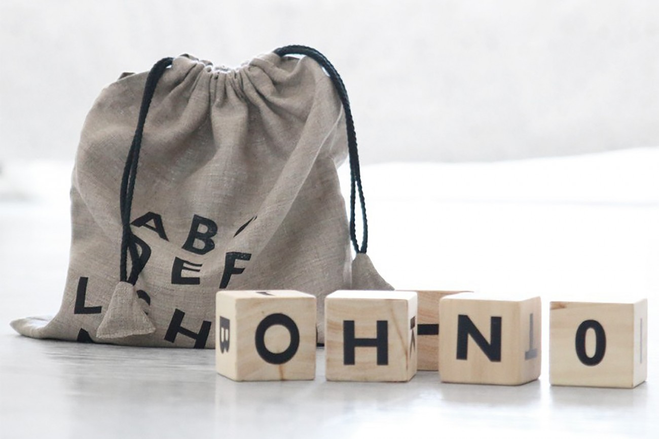 Alphabet Blocks - Noir