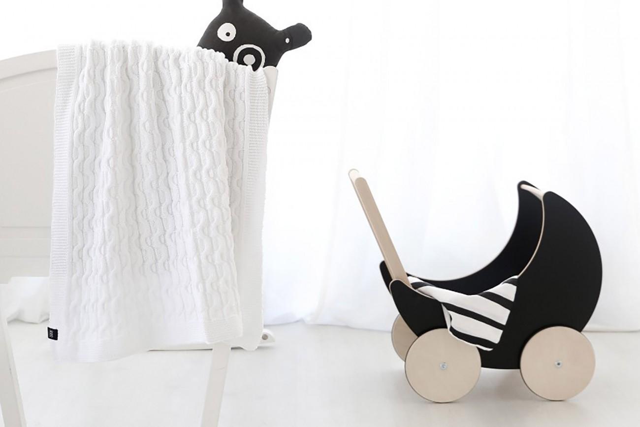 Landau Toy Pram Noir à Craie