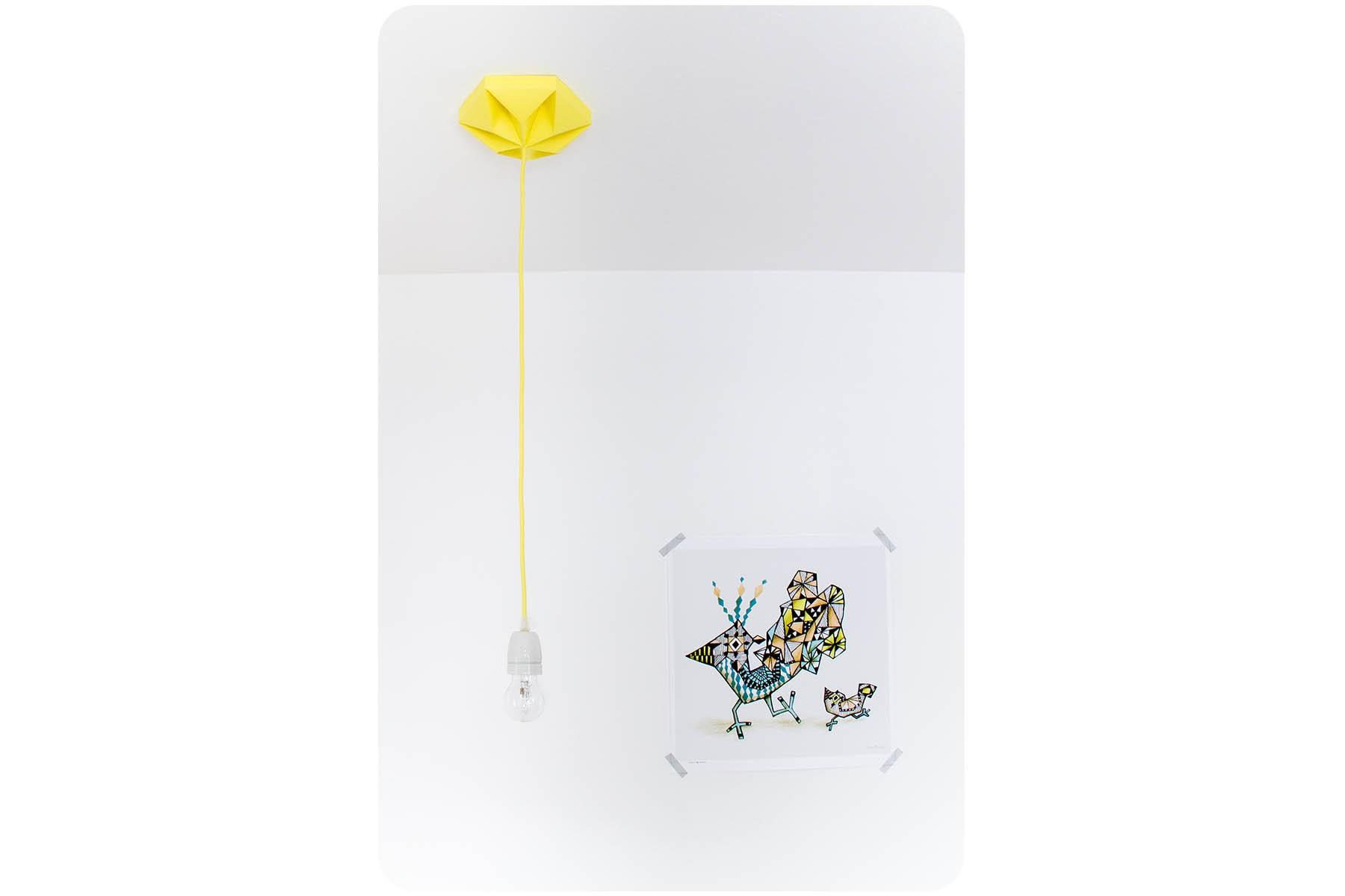 Rosace d coration jaune for Decoration jaune