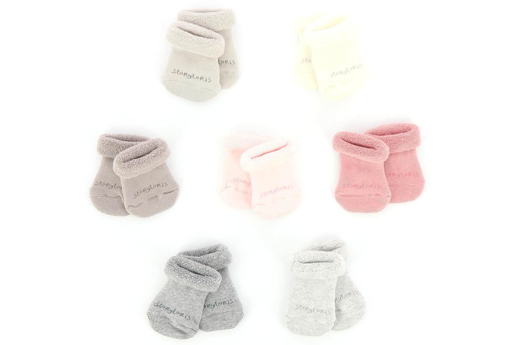 Baby Girls Sparkle Bow Hat et chaussette en Rose ou Blanc Ensemble Cadeau