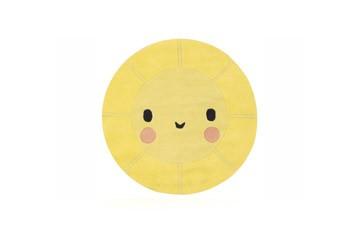 Tapis coton en forme de soleil