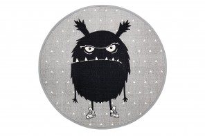 Tapis Enfant Monster Gris