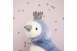 Peluche Pingouin Pigloo Bleu - 30 Cm