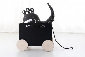 Coffre à jouets Toy Chest Noir à Craie