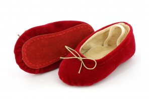 Chaussures Pampered Velours Rouge
