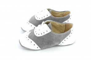 Chaussures Prince Gris & Blanc